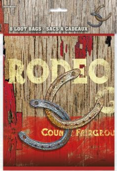 Rodeo Western Party Loot Bags 8pk