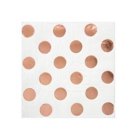 Rose Gold Dots Beverage Napkins