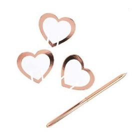 Rose Gold Glass Place Cards, pk10