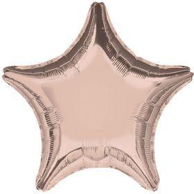 "Rose Gold Star Foil Balloon 19"""