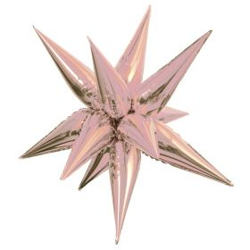 Rose Gold 3D Star Foil Balloon