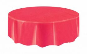 Value Ruby Red Round Plastic Party Tablecover