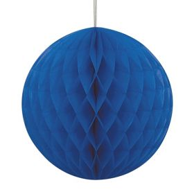 Royal Blue Honeycomb Ball Party Decoration 20cm