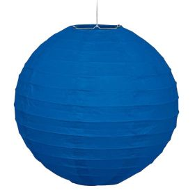 Royal Blue Round Lantern Party Decoration 25cm