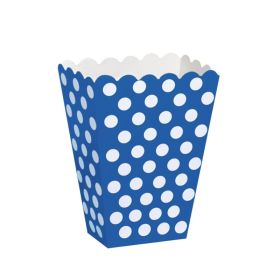 Royal Blue Polka Dot Party Treat Boxes