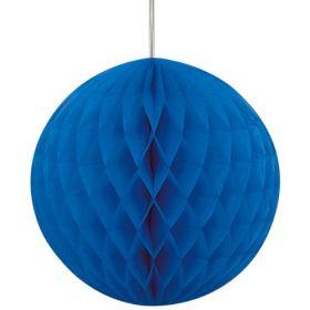 "Honeycomb Royal Blue Ball Party Decoration 8"""