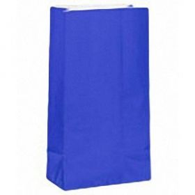 Royal Blue Paper Party Bags 12pk