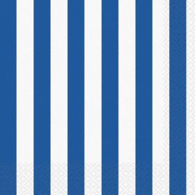 Royal Blue Stripe Luncheon Napkins