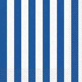 Royal Blue Stripe Luncheon Napkins