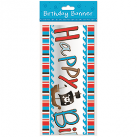 Pirate Happy Birthday Banner 2.8m