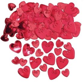 Ruby Red Embossed Confetti