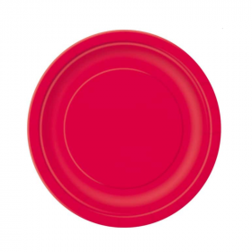Ruby Red Paper Dessert Plates
