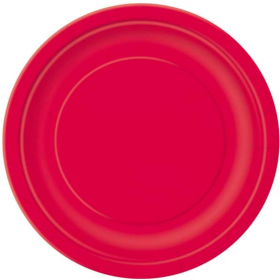 Ruby Red Paper Dinner Plates
