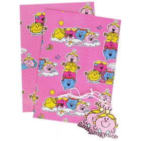 Little Miss Gift wrap 2 sheets and 2 tags