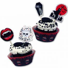 Fangtastic Cupcake & Picks pk48