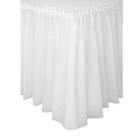 White Tableskirt