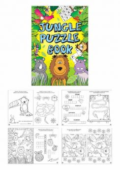 Jungle Puzzle Fun Book