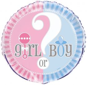 Gender Reveal Foil Balloon 18''