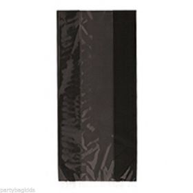 Black cello gift bags pk30
