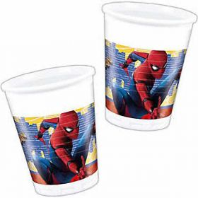 Spiderman Homecoming Cups pk8