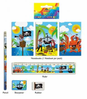 Pirates Stationery Set, 5 piece