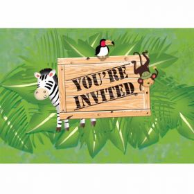 Safari Adventure Invitations, pk8