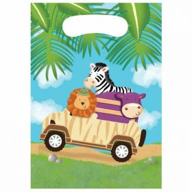 Safari Adventure Plastic Party Bags, pk8
