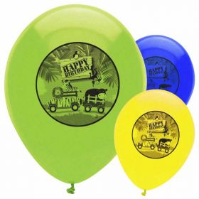 Safari Adventure Latex Balloons, 6pk