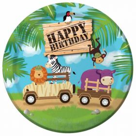"Safari Adventure 9"" Paper Plates pk8"