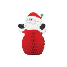 Mini Honeycomb Santa Christmas Decorations 6""