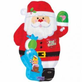 Joyful Santa Junior Shape Foil Balloon 21''