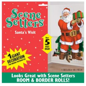 Santa's Visit Scene Setter Decoration