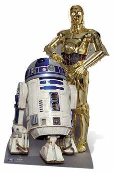 Star Wars Droids Cutout (R2-D2 & C3P-O)