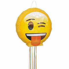 Wink Emoji Pull String Party Pinata