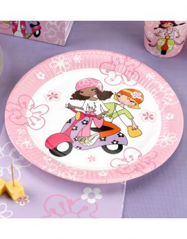 Scooter Girls Plates pk8