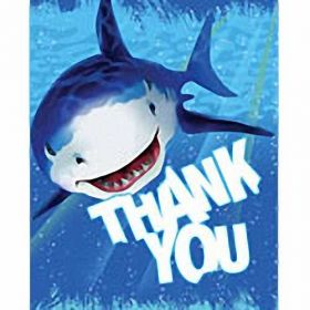 Shark Splash Thank You Cards & Envelopes, pk8