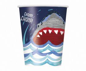 Shark Party Cups pk8