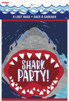 Shark Party Loot Bags, pk8