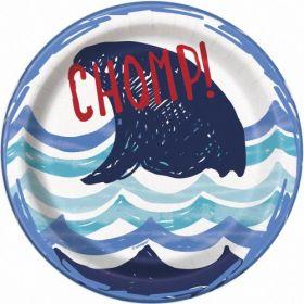 Small Shark Party Plates