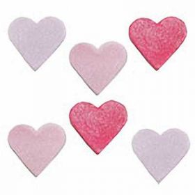 Shimmer Heart Sugar Toppers Cake Decorations pk6