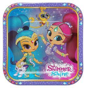 Shimmer & Shine Paper Plates 18cm pk8