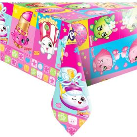 Shopkins Party Tablecover, plastic 138 x 183 cms