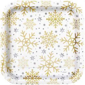 Snowflake Designed Plates