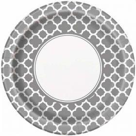 Silver Quatrefoil Dinner Plates