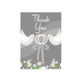 Silver Wedding Thank You Cards