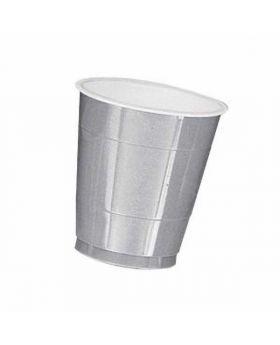 Silver Sparkle Plastic Cups 20pk