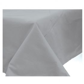 Silver 3ply Quality Paper Tablecover with Plastic Lining