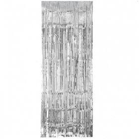 Silver Door Curtain 2.4m x 99cm
