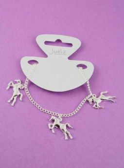Silver Coloured Horse Charm Bracelet