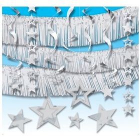 Silver Giant Room Decorating Kit